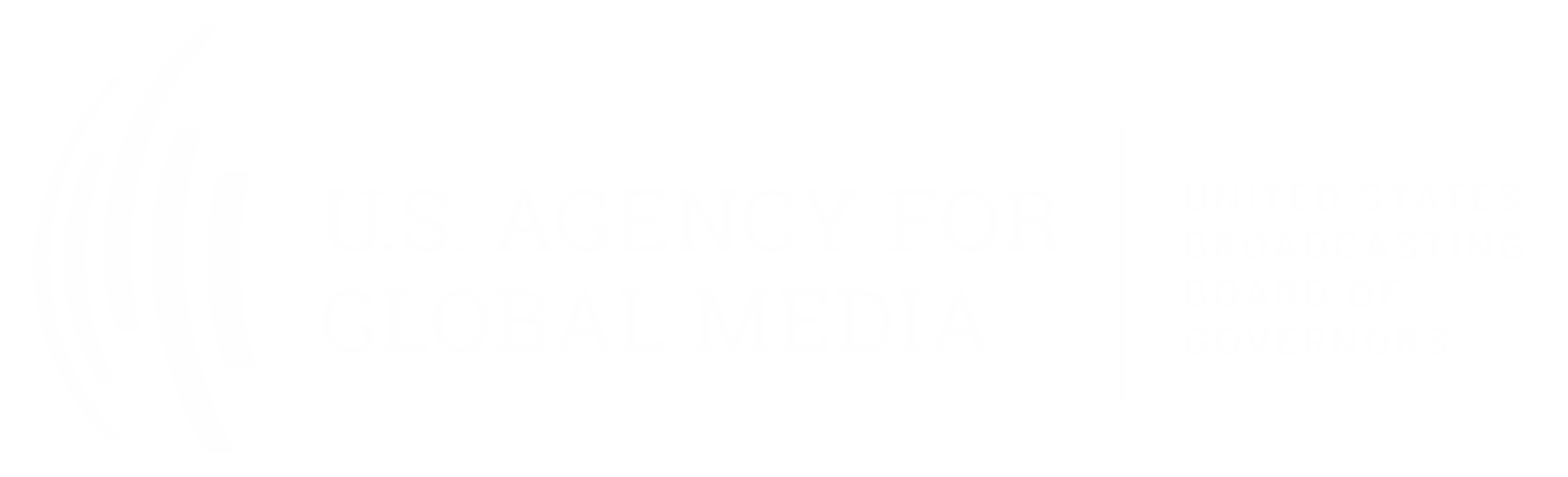 Logo for the U.S. Agency for Global Media